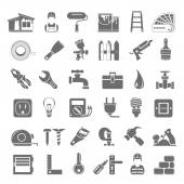 Black Icons - Home Repair — Stock Vector