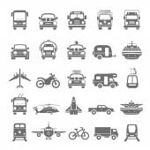 Black Icons - Transportation — Stock Vector