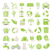 Flat Icons - Environmental Conservation — Stock Vector
