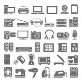 Black Icons - Electronic Devices — Stock Vector