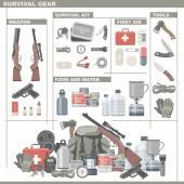 Survival Gear — Stock Vector