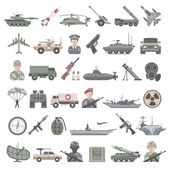Flat Icons - Military — Stock Vector