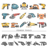Flat Icons - Power Tools — Stock Vector