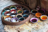 Dyes for coloring textile — Stock Photo