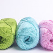 Colored yarn for knitting — Stock Photo #68997531