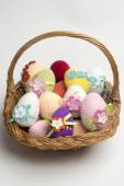 Easter egg made from yarn — Stock Photo