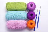 Colored yarn for knitting — Stock Photo