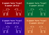 Goats New Year — Stock Vector