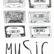 Music tapes — Stock Photo #62823521