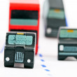 Traffic: three car and one bus (left focus) — Foto de Stock   #59865767