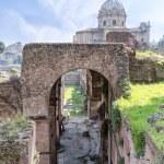 Roman ruins - Imperial fora, Rome (Italy) — Stock Photo #69759901
