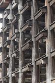 Wood construction details architecture — Stock Photo