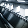 Mock up Vertical Poster in Subway station with escalator — Stock Photo #71755023