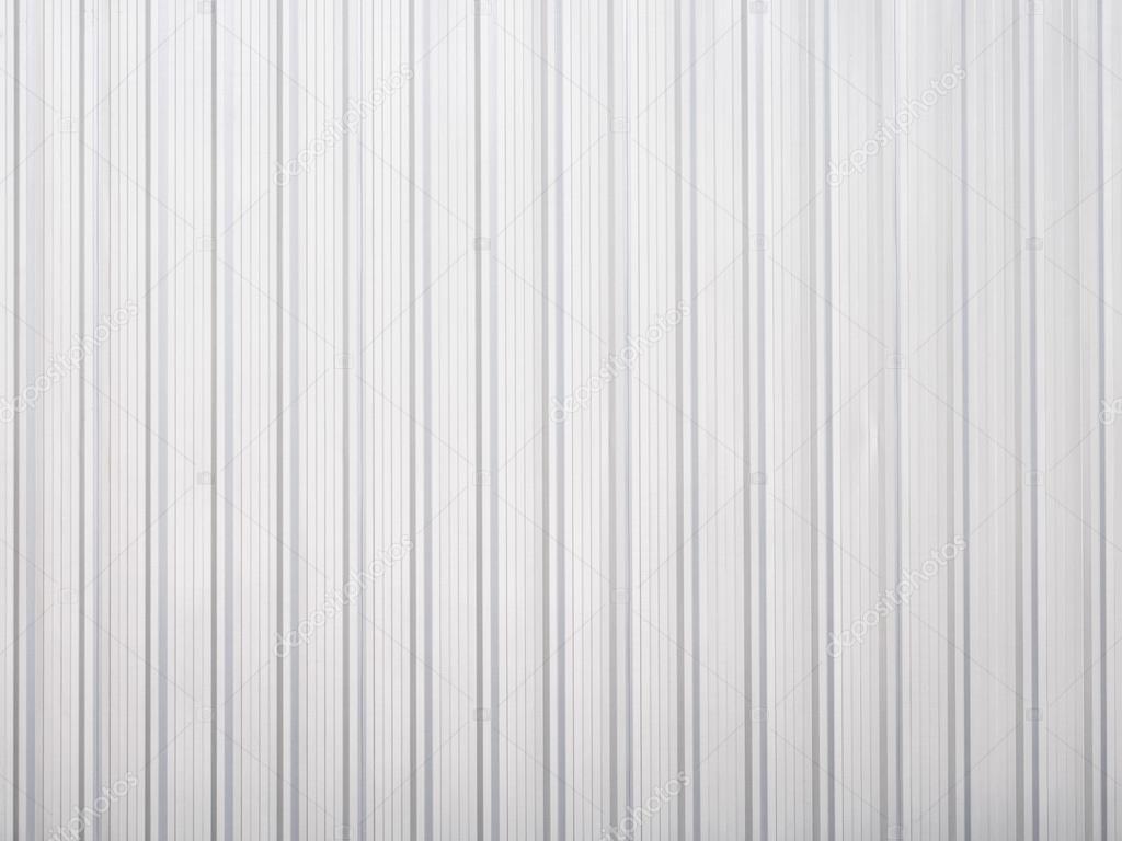 White Corrugated Iron Metal Texture Stock Photo