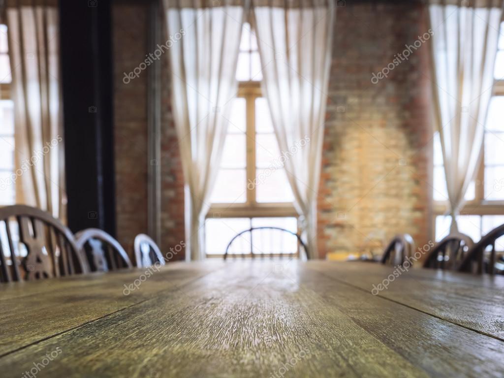 식당 인테리어 배경에서 석 테이블 가기 카운터 — 스톡 사진 ...