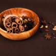 Wooden bowl with spices — Stock Photo #62113465