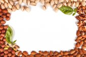 Nuts frame — Stock Photo