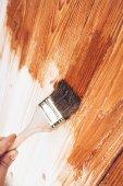 Деревянные живопись — Стоковое фото