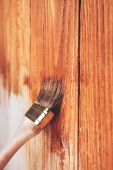 Wooden painting — Stock Photo