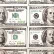 Background with money american hundred dollar bills - horizontal — Stock Photo #64970569