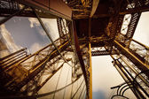 Iron construction of Eiffel tower — Stock fotografie