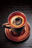 Vintage cup of coffee, closeup — Stock Photo