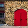 Old Stone Barn with Bright Red Door — Stock Photo #60152841