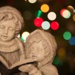 Christmas Carolers with Lights - Horizontal — Stock Photo #60153409