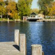 View from Dock Looking Across River — Stock Photo #60539247