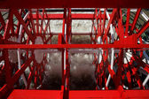 New Orleans - Red Paddlewheel in Motion — Stock Photo