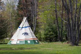 Indian Tepee at Forest Edge — Stock Photo