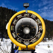 Snow cannon for production of snow on ski slopes — Stock Photo
