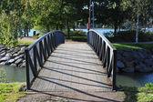 Beautiful bridge in the Park of Helsinki in autumn — Stock Photo