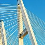 Big Obukhovsky bridge (cable-stayed) over the Neva river, St. Pe — Stock Photo #64646407