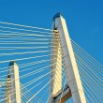 Big Obukhovsky bridge (cable-stayed) over the Neva river, St. Pe — Stock Photo #64646413
