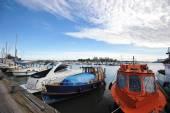 Helsinki, Finlândia, 28 de setembro: berço de Marina no centro de H — Fotografia Stock