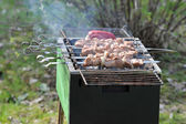 Barbecue cooking on the grill — Stock Photo