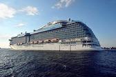 Ocean liner in the Baltic sea — Foto de Stock