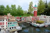 Gunzburg, GERMANY - MAY 6: Legoland - mini Europe from LEGO bric — Stock Photo