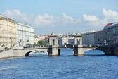 Lomonosov bridge across the Fontanka river in Saint Petersburg,  — Stock Photo