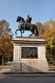 Equestrian statue of Peter the Great in Saint Petersburg, Russia — Stock Photo