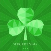 Greeting card with Saint Patrick's day in low poly style — Stockvektor