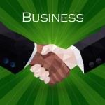 ビジネス ハンドシェイク イラスト — ストックベクタ #68461035