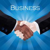 Business handshake illustration — Stock Vector