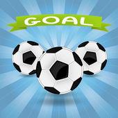 три футбольных мячей — Cтоковый вектор