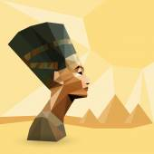 Egyptian Queen Nefertiti — Stock Vector