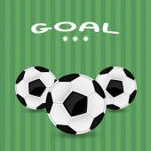 Tres balones de fútbol — Vector de stock