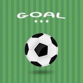 Иллюстрация футбольного мяча — Cтоковый вектор