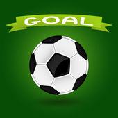 Ilustracja piłki nożnej — Wektor stockowy