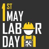 May 1st Labor (labour) day illustration — Vettoriale Stock
